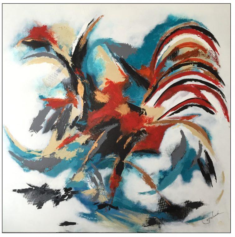 Copelandartiste, patriciacopeland arts, coq, Patricia Copeland, Le coq de Copeland
