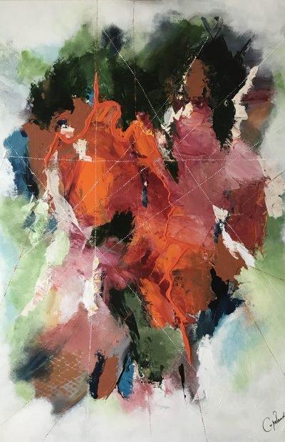 Patricia Copeland, copelandartist, orange,rouge,vert, art,