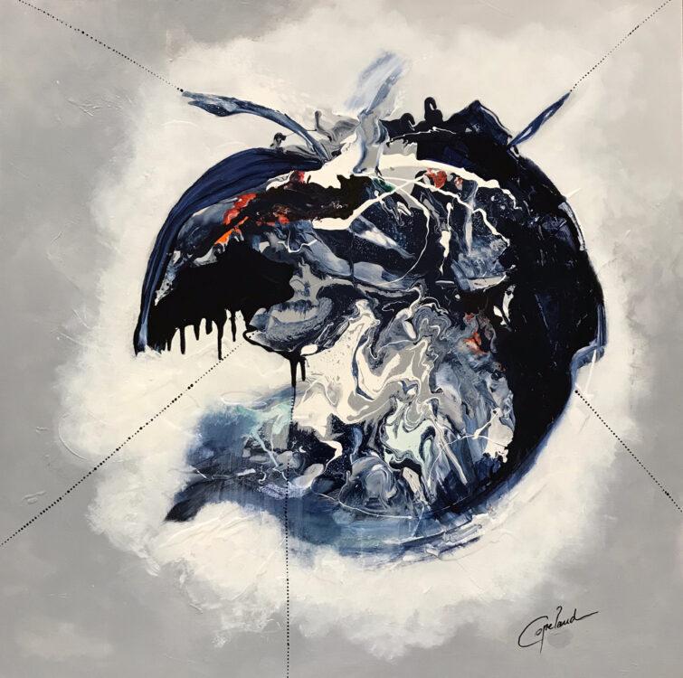 Copelandartiste, Patricia Copeland, art abstrait, contemporain, terre, planète, monde, Copeland